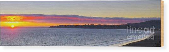Stinson Beach Sunset Wood Print