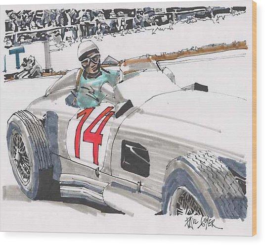 Stirlig Moss Mercedes Benz Grand Prix Of Belgium Wood Print