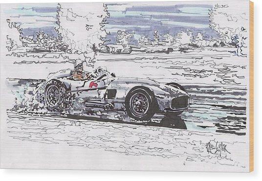 Stirling Moss Mercedes Benz Grand Prix Of Argentina Wood Print