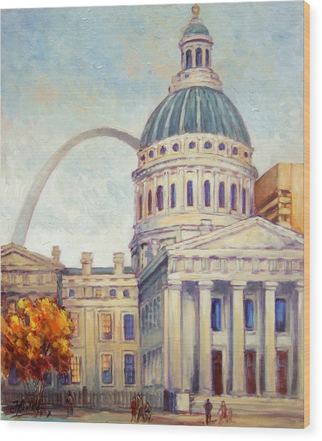 St.louis Old Courthouse Wood Print
