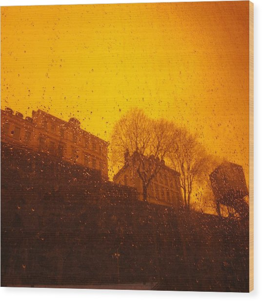 Stockholm The Heights Of South In Silhouette Wood Print