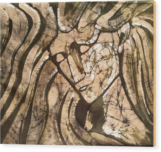 Stone Angel Wood Print