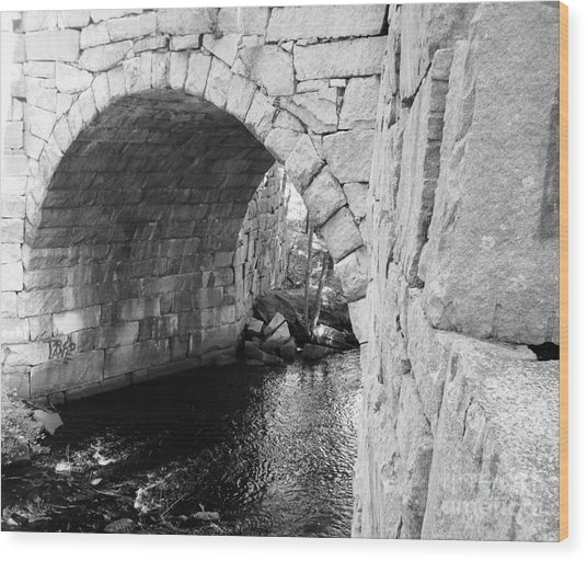 Stone Arch Bridge 3 Wood Print