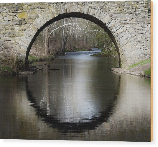 Stone Arch Bridge Wood Print