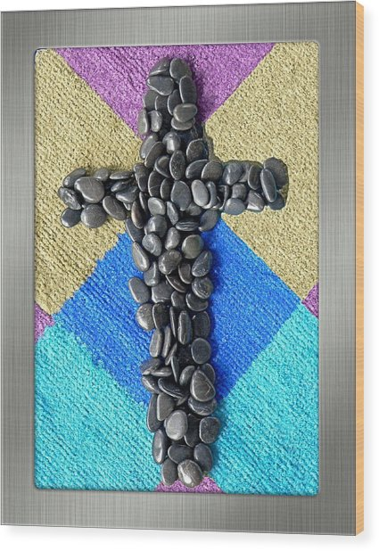 Stone Cross Wood Print