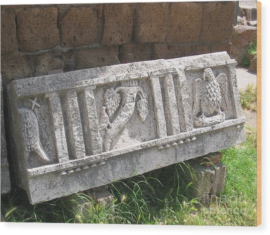 Stone In Tarquinia Wood Print