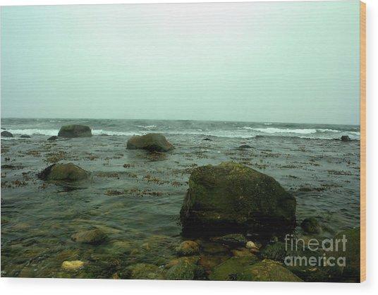 Stone Ocean Wood Print