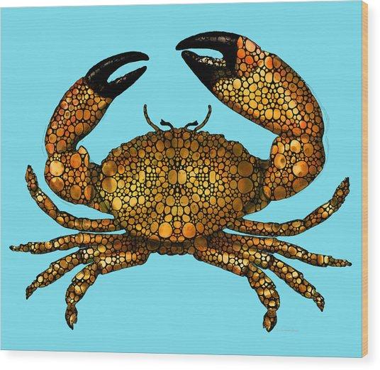 Stone Rock'd Stone Crab By Sharon Cummings Wood Print