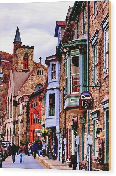 Stone Row - Jim Thorpe Pa Wood Print