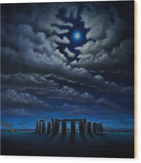 Stonehenge - The People's Circle Wood Print