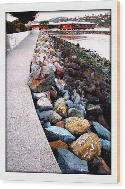 Stones At The Bay... Wood Print by Lisa Alex