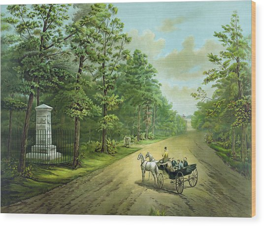 Stonewalls Memorial At Chancellorsville Wood Print