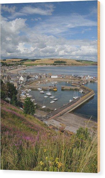 Stonhaven Harbour  Scotland Wood Print