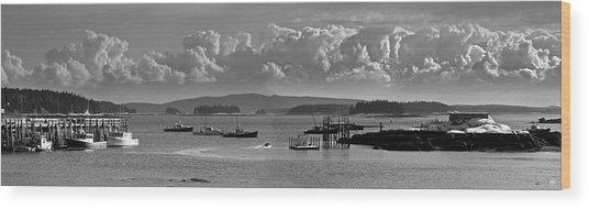 Stonington Harbor Wood Print