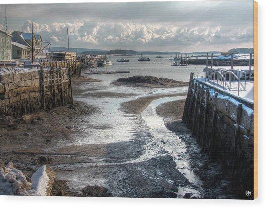 Stonington Low Tide Wood Print