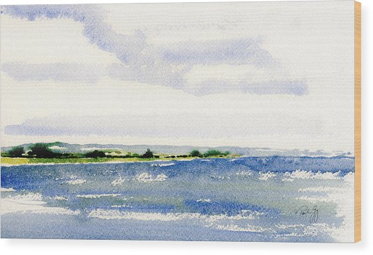 Stonington Point East Wood Print