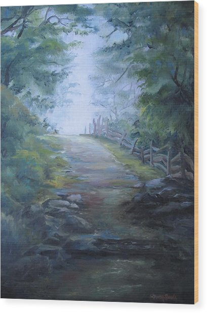 Stony Path Wood Print