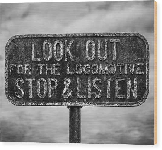 Stop And Listen Wood Print by Steve Stanger