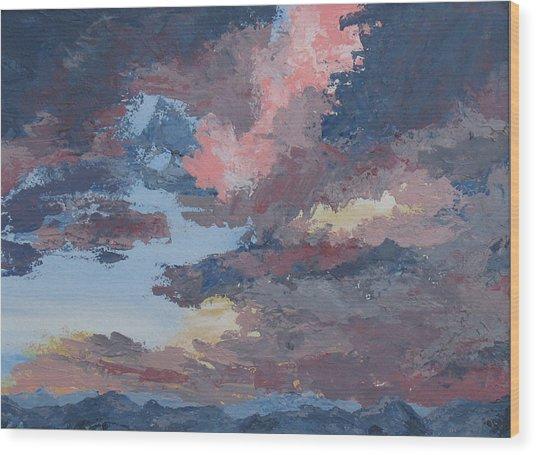 Storm A Brewin Wood Print by Janis Mock-Jones