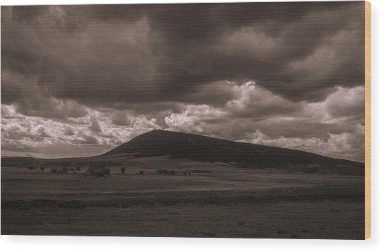 Storm A Comin' Wood Print