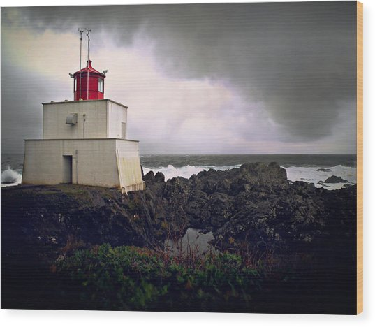Storm Approaching Wood Print