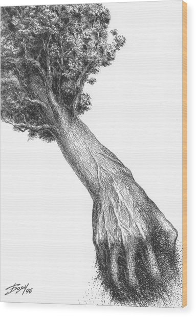 Storm Wood Print by Boyan Donev