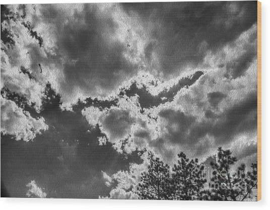 Storm Break Wood Print