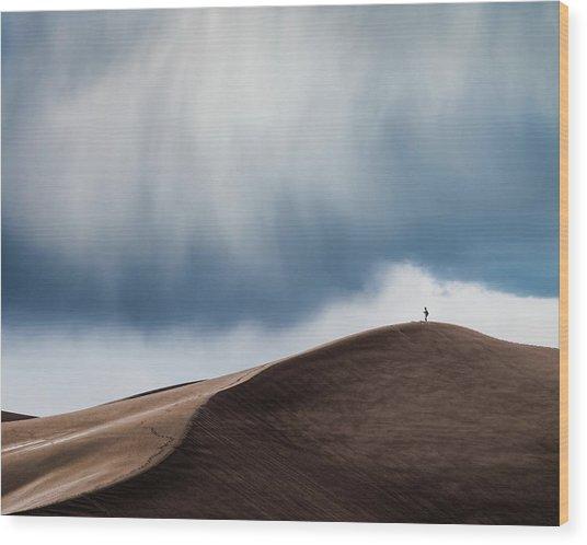 Storm Chaser Wood Print by John Fan