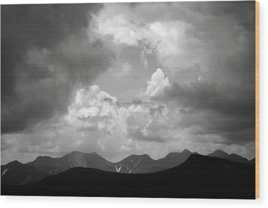Storm Clouds Over The Great Range Wood Print