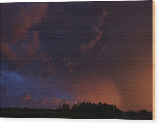 Storm Clouds Over Yorkton IIi Wood Print