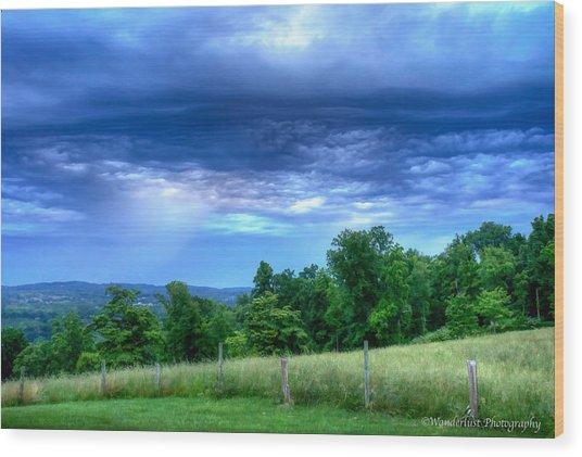 Storm Clouds Wood Print by Paul Herrmann