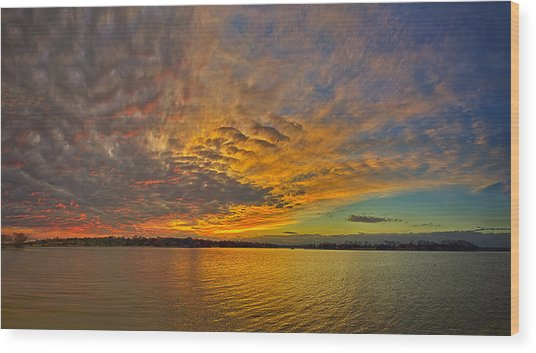 Storm Front Sunset II Wood Print by Dan Holland
