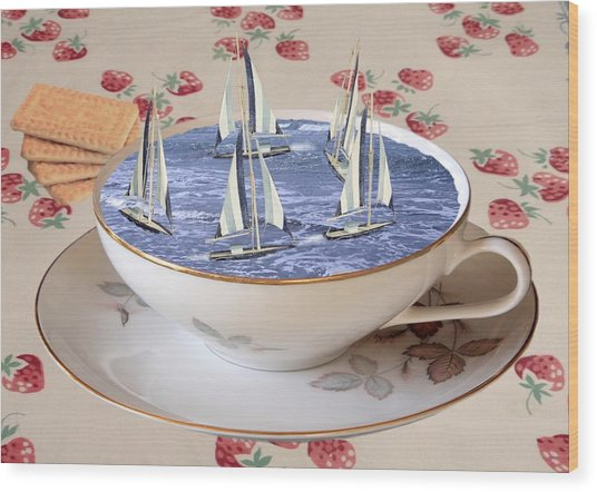 Storm In A Teacup Wood Print