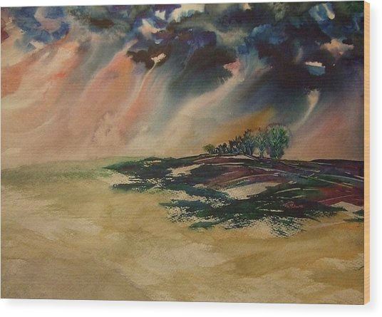 Storm In The Heartland Wood Print