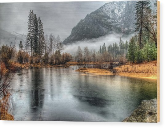 Storm In Yosemite Wood Print