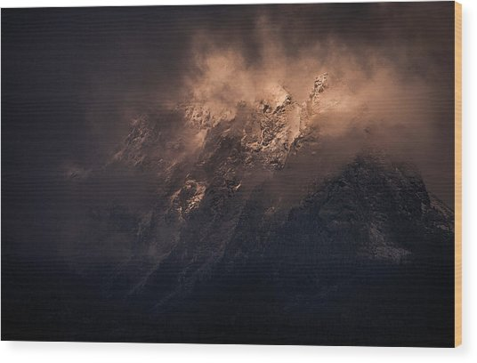 Storm Is Over Wood Print