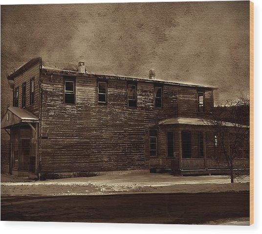 Storm Of 1888 Wood Print