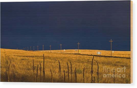 Storm Of Redemption Wood Print