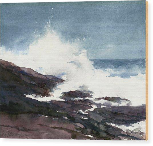 Storm On The Lake Wood Print