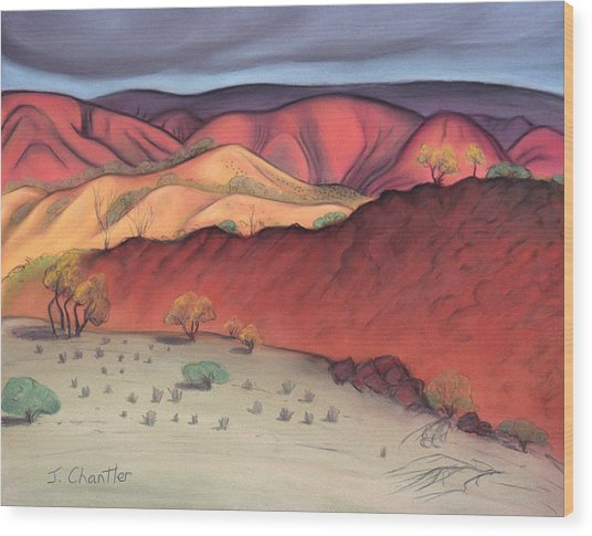 Storm Outback Australia Wood Print