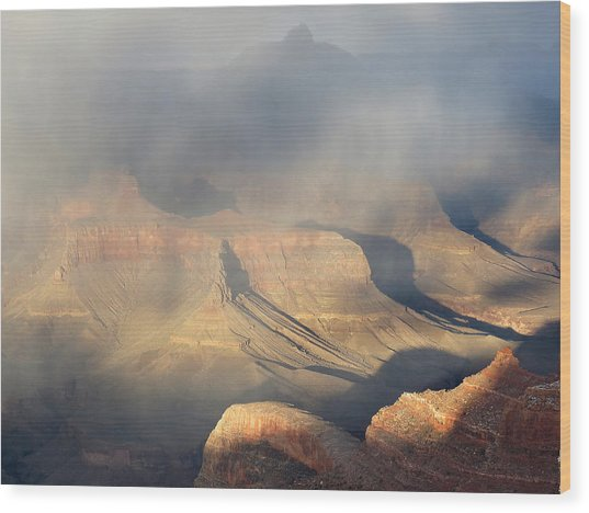 Storm Over The Grand Canyon Wood Print
