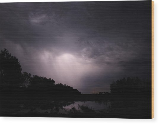Storm Over Wroxton Wood Print