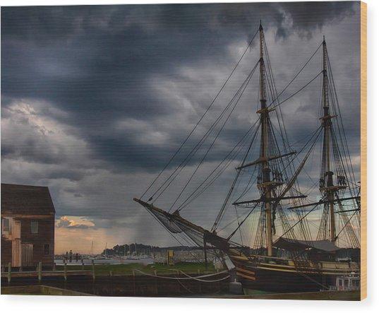 Storm Passing Salem Wood Print