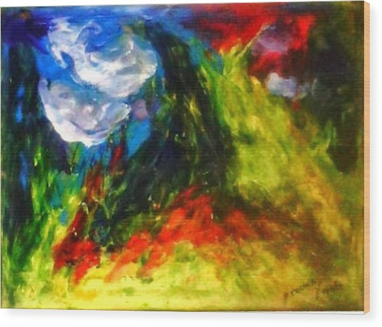 Storm.. Wood Print by Rooma Mehra