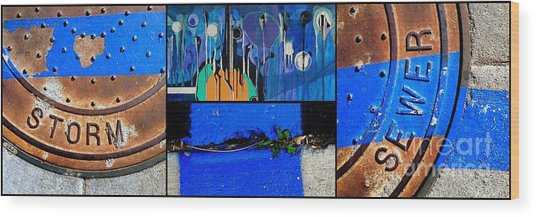 Storm Shudders Wood Print