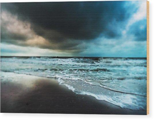 Storm Tilt Wood Print