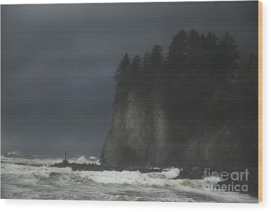 Storm At Lapush Washington State Wood Print