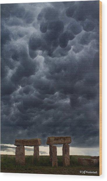 Stormhenge Wood Print