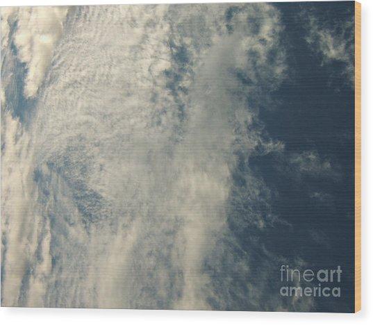 Storm's A-brewin' Wood Print by Margaret McDermott