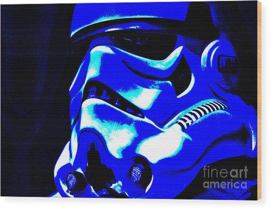 Stormtrooper Helmet 22 Wood Print by Micah May